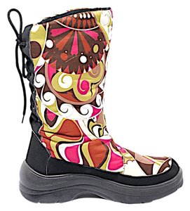 Emilio Pucci Moon After Ski Multi Color Pink Boots