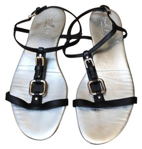 Hogan Black with silver insole Sandals