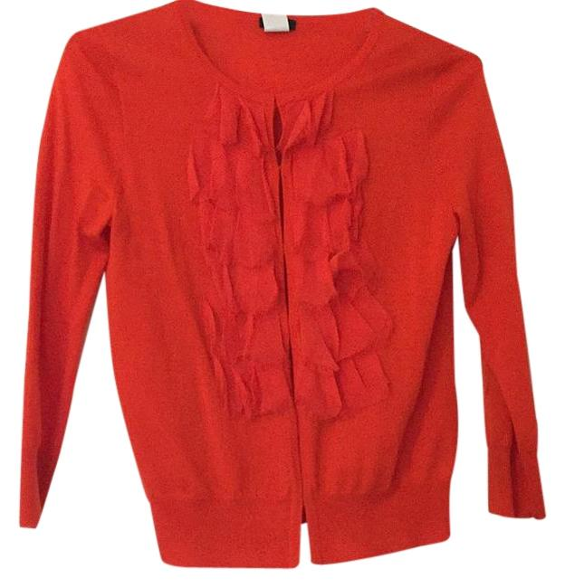Item - Orange Cardigan Size 4 (S)