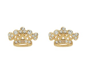 Juicy Couture Juicy Couture Pave Signature Crown Earrings YJRU7874