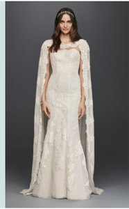 Oleg Cassini Oleg Cassini Cape Wedding Dress Wedding Dress