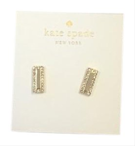 Kate Spade Gold earring with sm crystals