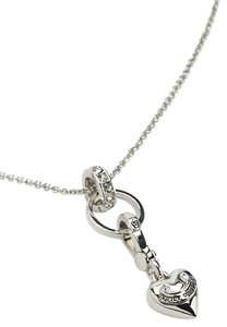 Juicy Couture Juicy Couture Silver Link Charm Catcher Adjustable Necklace YJRU7875