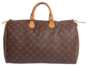 Louis Vuitton Monogram Speedy Speedy 40 Totes Satchel in Brown