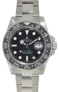 Rolex Rolex 116710 GMT II Stainless Steel Black Dial Ceramic Bezel Watch