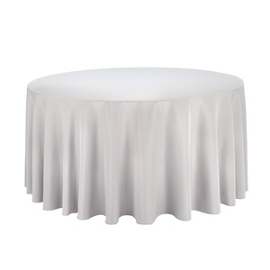 """Gray/Silver 12 - 120"""" Round Tablecloths"""