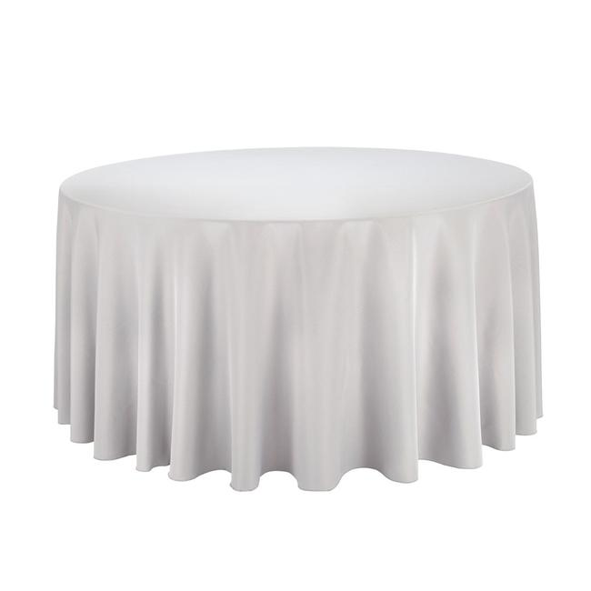"""Item - Gray/Silver 12 - 120"""" Round Tablecloths"""