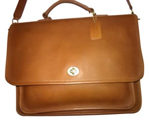 Coach Cowhide Leather Vintage Tan Messenger Bag