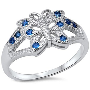 9.2.5 pretty blue sapphire butterfly figurine ring 6