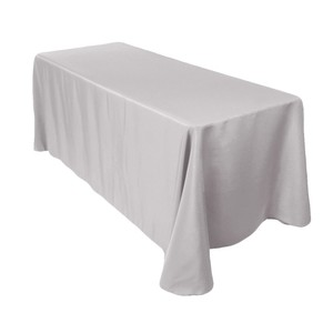 2 - Rectangular Gray Tablecloths 90x156
