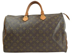 Louis Vuitton Speedy 40 Satchel in Brown