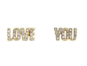 Juicy Couture Juicy Couture Pave 'Love You' Stud Earrings YJRU8384