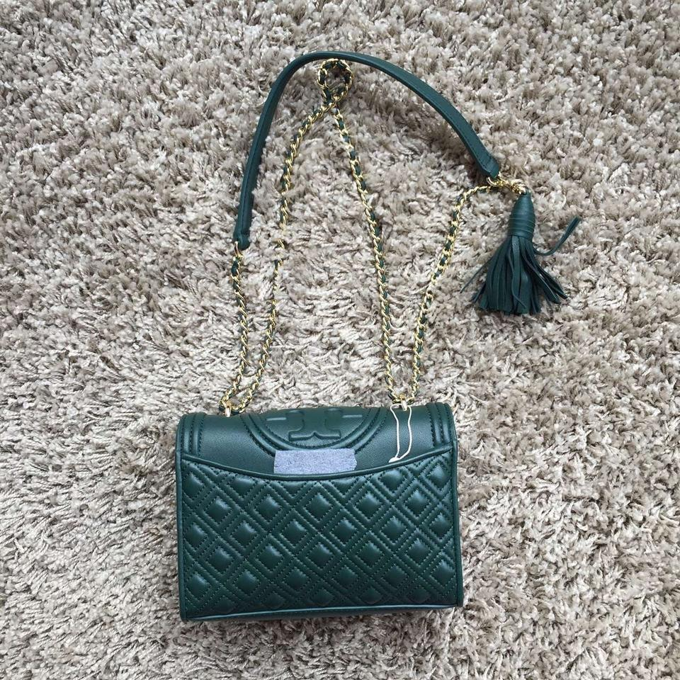0f9ece35d92f Tory Burch Fleming Small Convertible Shoulder Norwood Green Leather Cross  Body Bag - Tradesy