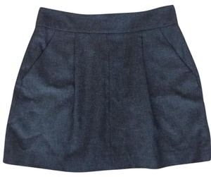 French Connection Classic Wool Mini Short Mini Skirt Grey