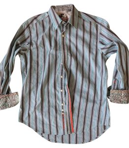 Robert Graham Mens Dressshirt Limited Edition Button Down Shirt Multi