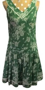 Sisley short dress Green Knee Length on Tradesy