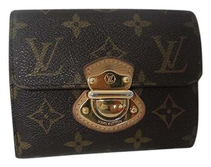 Louis Vuitton Auth Louis Vuitton Joey Monogram Canvas Compact Trifold Wallet