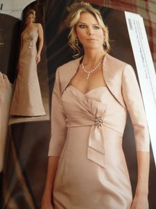 Montage English Rose Silk 19944 Formal Bridesmaid/Mob Dress Size 14 (L)