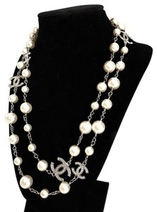 Chanel $2249 MID200 BRAND NEW CHANEL Classic Pearl 5 CC Dual Sided Crystal