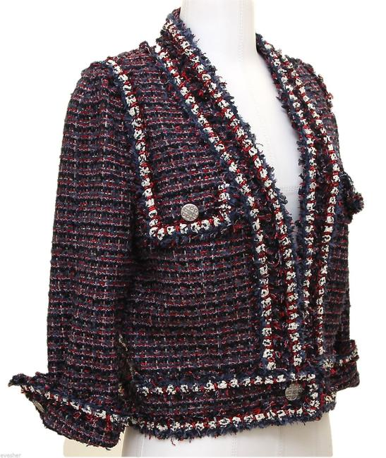 Chanel Navy, Red, White Blazer