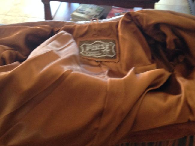 First Leather Fringed Ladies Size L Caramel Brown Jacket Image 4