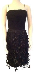 Victoria Royal Ltd Cocktail Irridescent Feathers Hand-beaded Hot! Dress