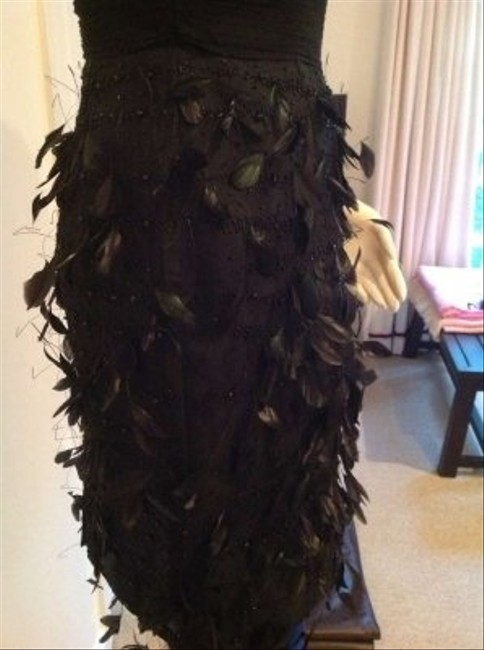 Victoria Royal Ltd Irridescent Feathers Hand-beaded Hot Dress