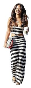 Black Striped Maxi Dress by Next Level Dress