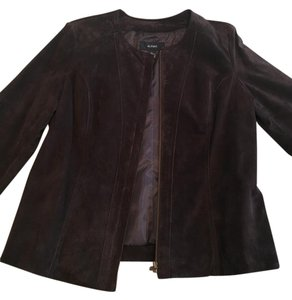 Alfani Suede Leather Brown Leather Jacket
