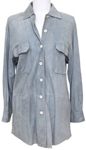 Loro Piana Button Down Shirt Blue