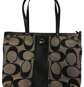 Coach Tote in Black/Grey