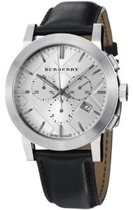 Burberry Burberry The City Men's Black Leather Chronograph Watch BU9355