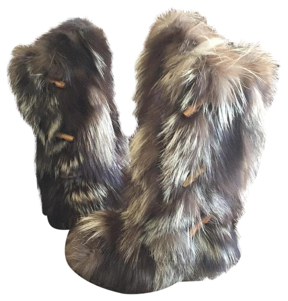 LADY Pajar Brown Fur quantity Boots/Booties Quality and quantity Fur guaranteed 2e5d28