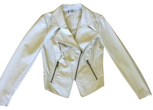 Jennifer Lopez Oatmeal Leather Jacket