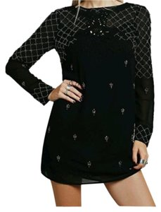 Free People Black Beaded Dress