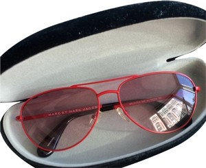 d2b4f95f1357 Marc by Marc Jacobs Red Marc By Marc Jacobs Aviator Sunglasses