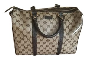 Gucci Stylish Monogram Beige/Brown Messenger Bag