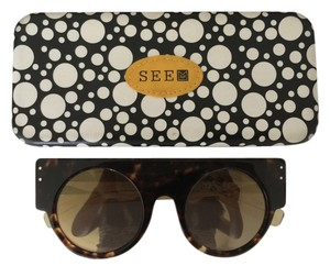 See by Chloé Mondo Guerra for See Mirror Sunglasses (Tort/Saffron)