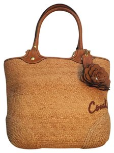 Coach Straw Brown Tote