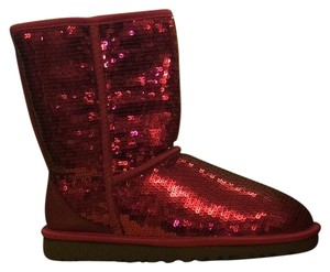 UGG Australia red sparkle Boots
