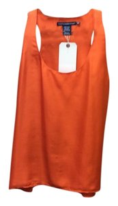 Ralph Lauren 100% Silk Lined Hue Size Medium Sleeveless Top Orange