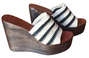 Joie Black/Beige Wedges