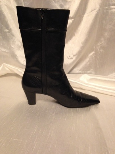 Cole Haan Leather Rubber Soles Leather Insoles Blck Boots