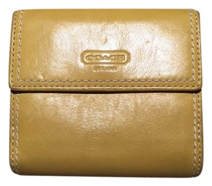 Coach Coach Mini Yellow Wallet