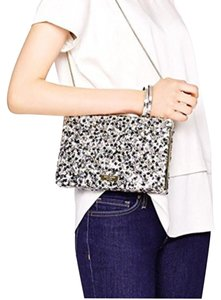 Kate Spade black/silver/blush Clutch