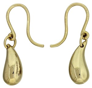 Tiffany & Co. Tiffany & Co Elsa Perreti 18k Yellow Gold Tear Drop Hook Earrings