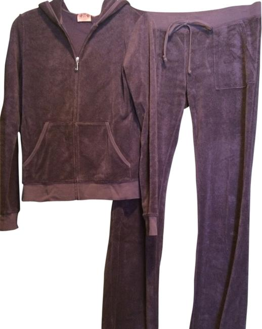 Item - Set - Hoodie & Pants - Dusty Plum Terry Activewear Outerwear Size 12 (L, 32, 33)