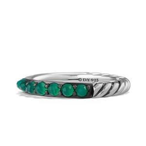 David Yurman 3mm Osetra Green onyx Ring