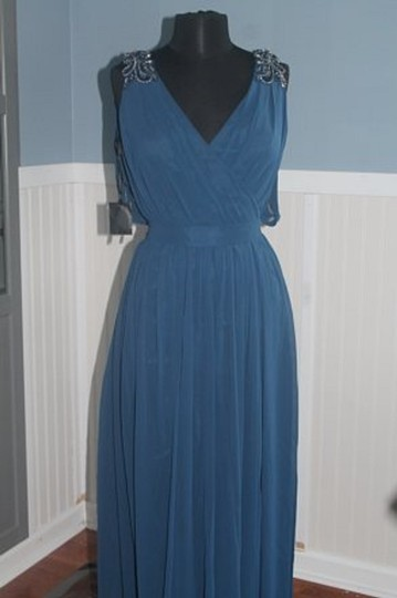 Pronovias Azul Blue #5033 Mother Of The Occassion/Formal Gown-size Formal Bridesmaid/Mob Dress Size 12 (L) Image 4