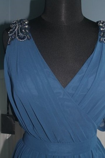 Pronovias Azul Blue #5033 Mother Of The Occassion/Formal Gown-size Formal Bridesmaid/Mob Dress Size 12 (L) Image 5